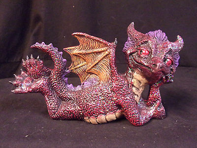Hand Painted Ceramic Attitude Dragon on Belly Red