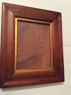 Old vintage small picture/ photo Maple frame