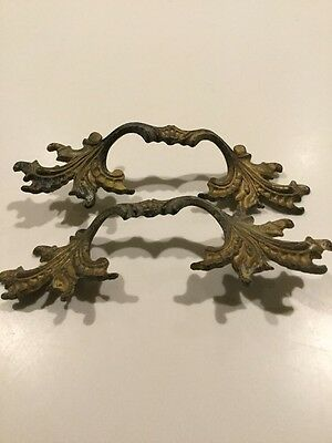 2 French provincial Drawer Cabinet Handles Pulls