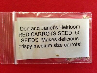 RED Carrot Seed, Heirloom, Organically Grown, 50+ Seeds, Delicious And Colorful