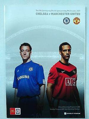 2009 FA Community Shield Chelsea v Manchester United Mint condition