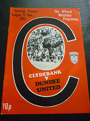 Clydebank V Dundee United 17/9/1977