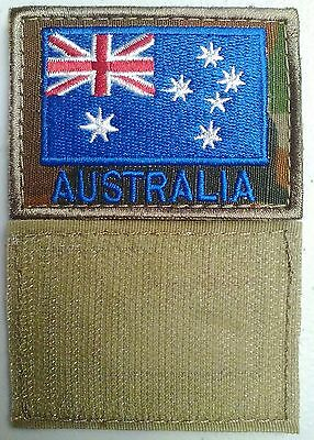 Australian Flag Patch Embroidered Set Of X2 On Auscam Background