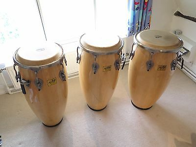 Afro Conga drums from Pearl Drums set of three professional congas