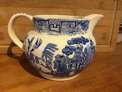 Arthur Wood  Blue And White Old Willow Jug