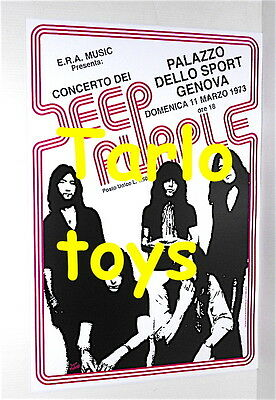 DEEP PURPLE - Genova, Italy 11 march 1973  - concert poster