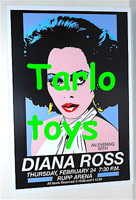 DIANA ROSS - Lexington, Usa - 24 february 1983 concert poster