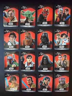 Star Wars Disney Infinity 3.0 - 16 Card Character Set - All codes unused