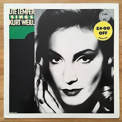 Ute Lemper - Sings Kurt Weill - UK LP Decca 1988 425 204-1