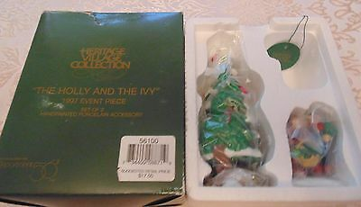 Dept 56 Heritage Village Collection THE HOLLY AND THE IVY 1997 Event Piece 56100
