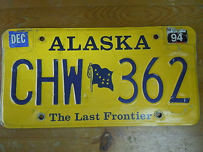 Alaska The Last Frontier License Plate CHW-362