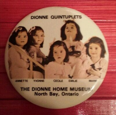 Vintage Dionne Quintuplet  pin back button