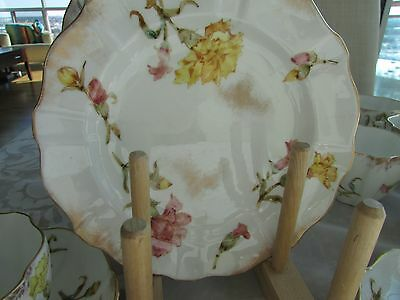 Vintage Royal Crown Derby - Pink and Yellow Carnations Pattern 3237