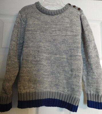 Boys Old Navy Long Sleeve Pullover Sweater Size 5T Boy's Gray & Blue