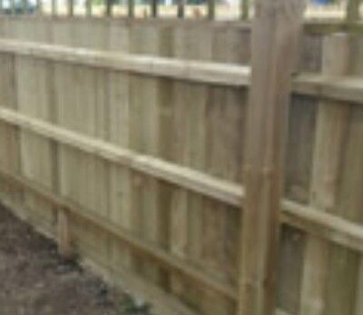 100x FEATHER EDGE BOARDS  - timber shed DIY building fence garden wood £75