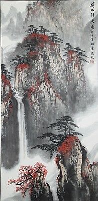 A Signed Chinese Landscape Scroll by a Listed Artist