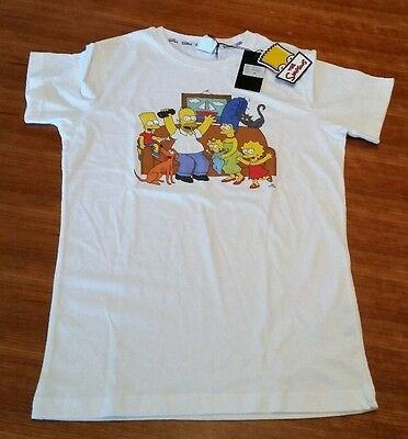 The Simpsons T-Shirt Gr. S weiß mit Familie 100 % Authentic Abacab Official neu