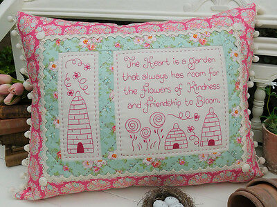 Flowers of kindness pillow pattern