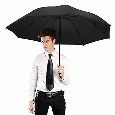 Folding Travel Umbrella Automatic Lightweight Compact Portable Windproof Rain