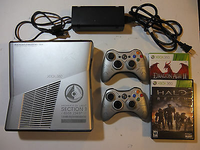 Microsoft Xbox 360 Halo:Reach Limited Edition 250GB Console+2 Controllers2 Games