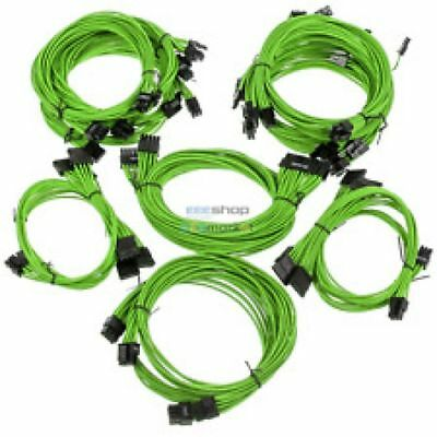 Super Flower Sleeve Cable Kit Pro - Green