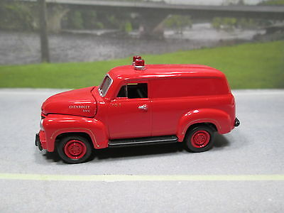 1950  '50 CHEVY 3100 PANEL VAN  (red)  Co.5   1/64 S SCALE  ~~  NEAR MINT LOOSE
