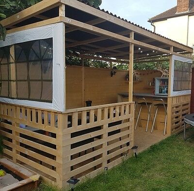Garden arbour with bar 2,4m-4,8m