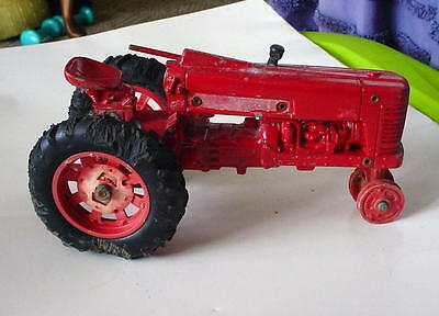 VTG RED DIE CAST McCORMICK FARMALL TRACTOR  - FOR REPAIR OR PARTS