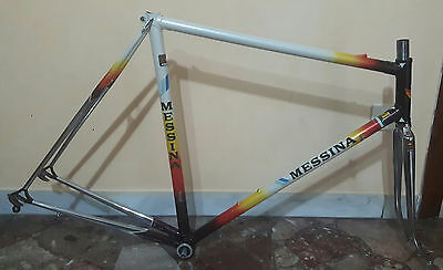 Road Bike Frame Messina Columbus Sl Vintage '80 Perfectly Preserved