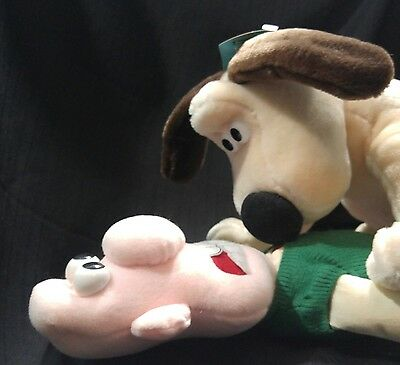 Vtg 1989 Wallace & Gromit Plush Figures Born To Play Aardman NWT