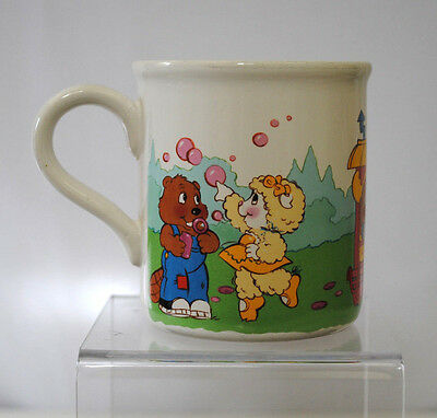American Greetings Get Along Gang VTG 80s Coffee Tea Mug Cup Beaver Lamb Moose