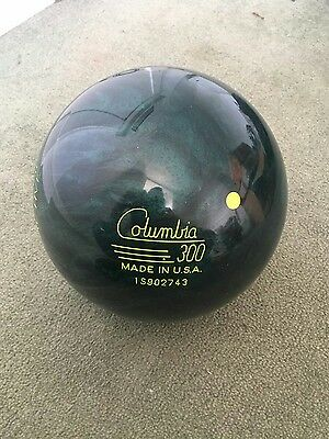 Bowling Ball Columbia 300 Scout  Reactive undrilled discontinued ball size 16