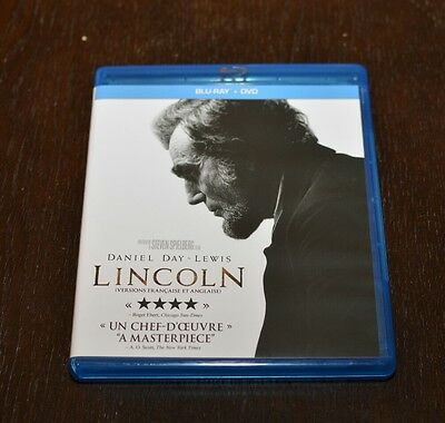 Lincoln (Blu-ray/DVD, 2013, 2-Disc Set, Canadian)