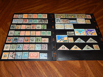 Ecuador stamps - BIG lot of 71 mint hinged and used early stamps - super !!