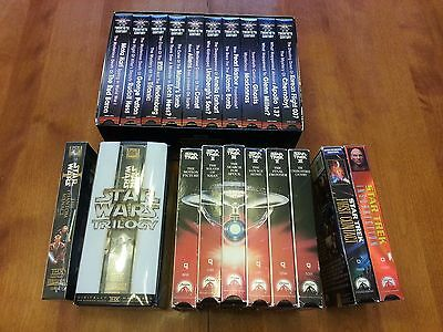 Lot of 22 VHS Star Wars, Star Trek, plus Mysteries & Myths