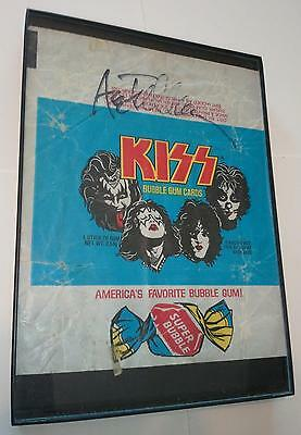 Kiss Bubble Gum Cards Wrapper signed by Ace Frehley
