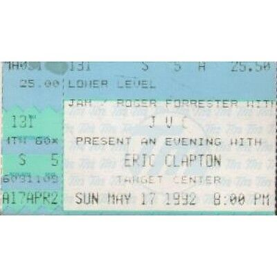 ERIC CLAPTON Target Center 17 May 1992 TICKET US 1992 Used Ticket For Concert