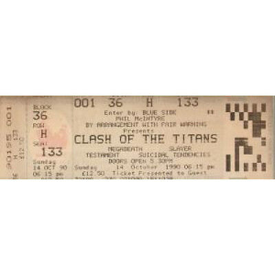 CLASH OF THE TITANS Wembley Arena 14Th October 1990 TICKET UK 1990 Ticket With