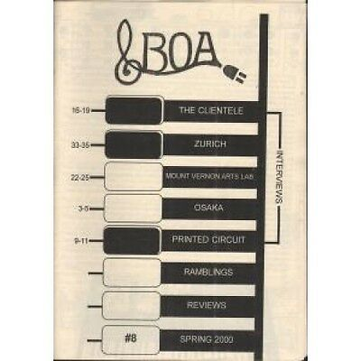 BOA (INDIE FANZINE) No.8 Spring 2000 FANZINE UK 2000 A5 Black And White Indie