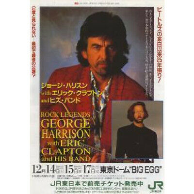 GEORGE HARRISON WITH ERIC CLAPTON AND HIS BAND An Udo Artists Presentation 1991