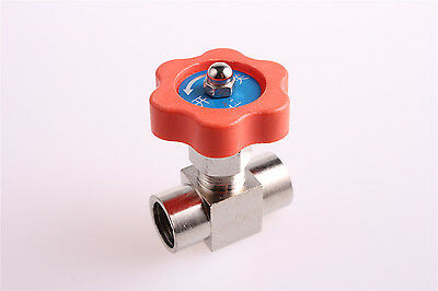 "1 Pcs 1/4"" BSPP Female Threaded Nickel-Plated Brass Plug Needle Valve"