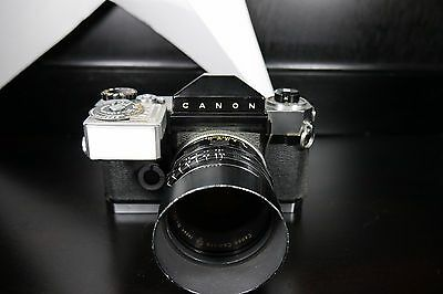 Canon Canonflex SLR Film Camera Body W/ Light Meter And Super-Canomatic Lens 50m