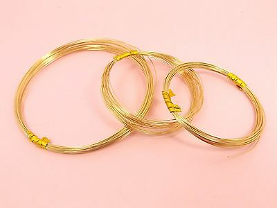 14K GOLD FILLED Round HALF HARD Beading WIRE ~ 0.25mm / 0.3mm / 0.4mm / 0.5mm ~