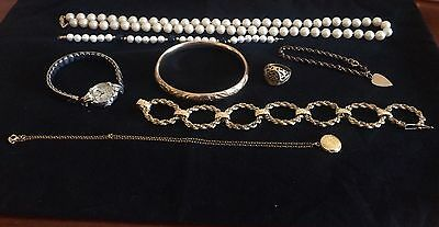 14k And Gold Plate Mixed Jewelry Lot Of 125 Grams- No Scrap
