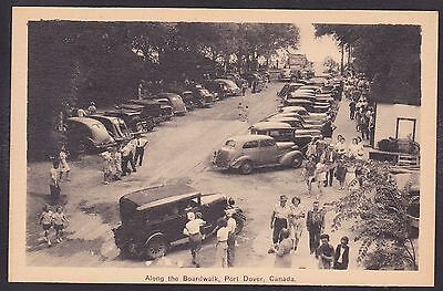 Circa 1915 - 1930 Vintage Postcard Along the Boardwalk PORT DOVER, Ontario