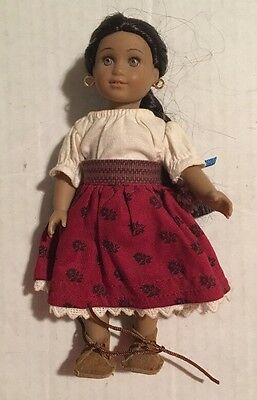 """American Girl Josefina Mini 6.5"""" Doll W/ Complete Outfit & Shoes"""