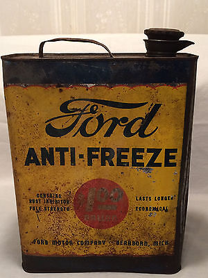 Rare Vintage 1920's Ford Car Antifreeze 1 Gallon Can