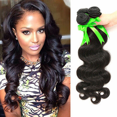 "8"" Bundles 50g 100% Brazilian Straight Virgin Hair Weft For Sew In Hair Weft 8A"
