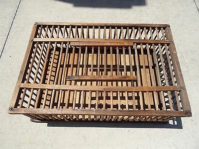 Primitive Wood Wooden Chicken Chick Crate Coop Cage Farm Country Coffee Table
