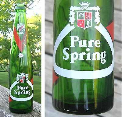 Vintage Soda Green Bottle Acl Pure Spring  Ottawa 10 Ozs